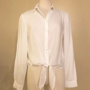 Beach Lunch Lounge White Tie Blouse